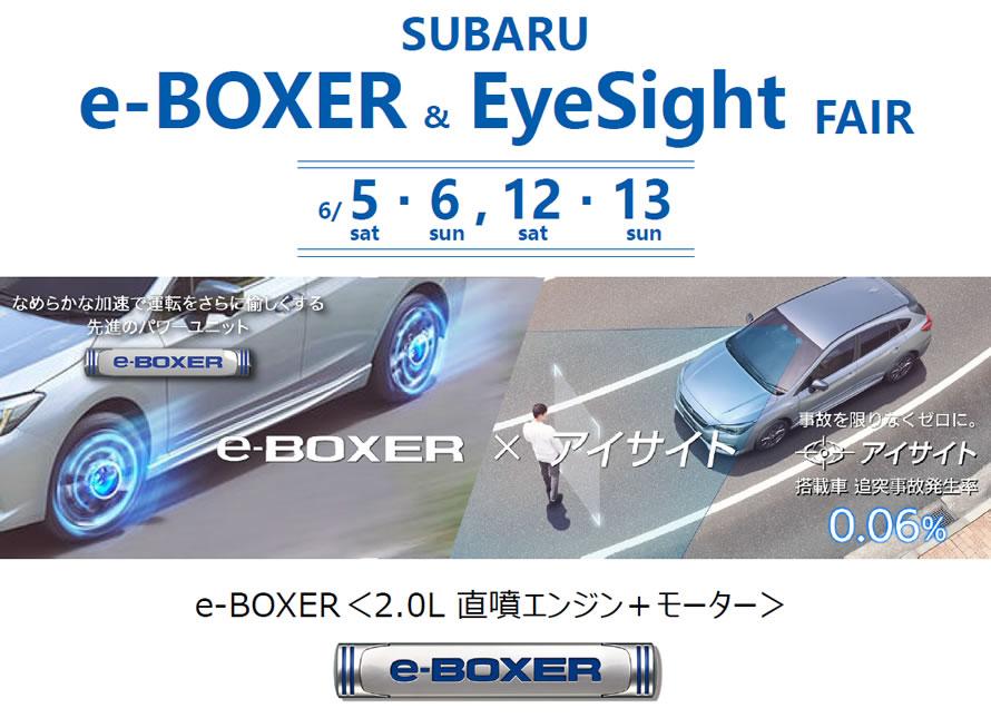 SUBARU e-BOXER&EyeSight フェア