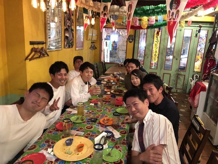 営業スタッフの宴会(中芝セールス歓迎会)