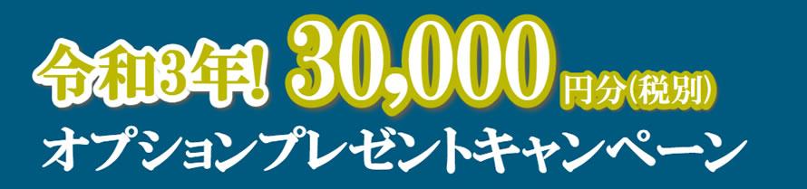 令和3年!3万円分オプションプレゼントキャンペーン